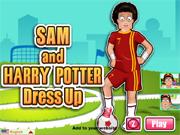 Sam and Harry Potter Dress up